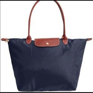 Longchamp Navy Blue LePliage large nylon tote bag